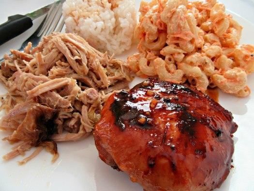 Hawaiian Teriyaki Chicken Thighs Close Up