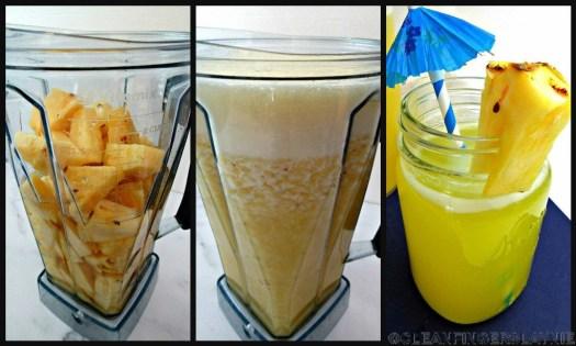 Pineapple Water (Agua De Pina) Process