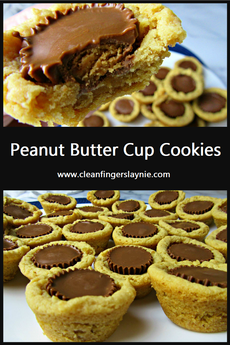 Peanut Butter Cup Cookies - Clean Fingers Laynie