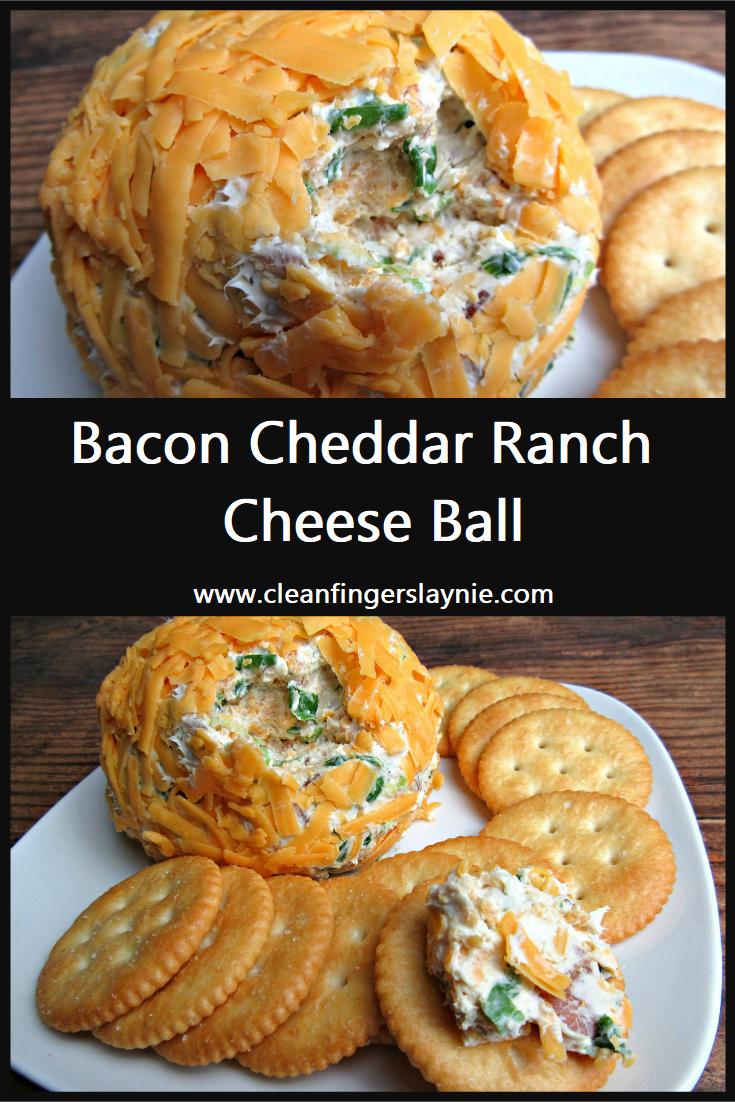 Bacon Cheddar Ranch Cheese Ball - Clean Fingers Laynie
