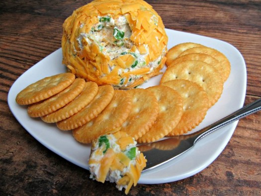 Bacon Cheddar Ranch Cheese Ball with Cheese Knife
