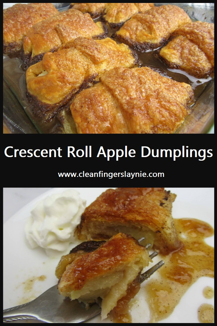 Crescent Roll Apple Dumplings - Clean Fingers Laynie
