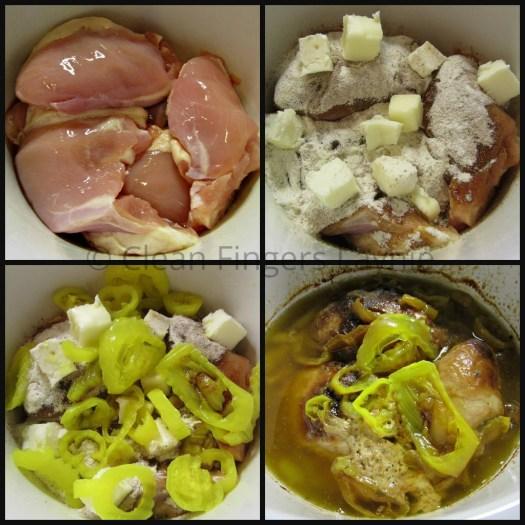 Chicken Mississippi Pot Roast Process Shot