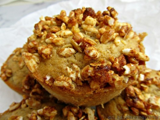 Pear and Granola Muffins - Top View