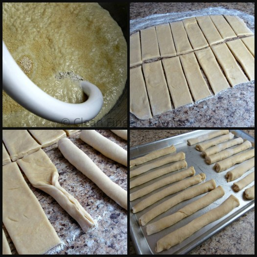 Copycat Homemade Italian Breadsticks Dough Process Shots