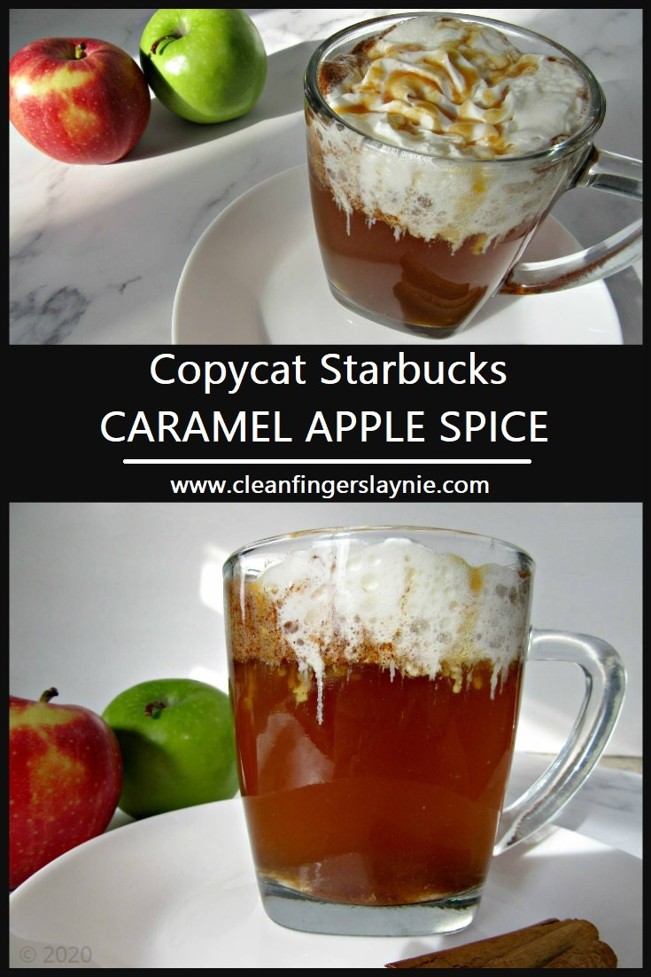 Copycat Starbucks Caramel Apple Spice -- Clean Fingers Laynie
