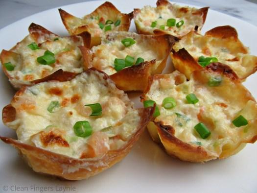 Triple Cheese Shrimp Dip Wontons Appetizer