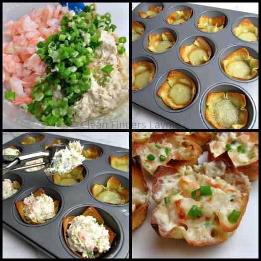 Triple Cheese Shrimp Dip Wontons Process Shot