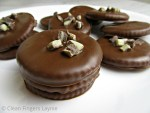 Easy Copycat Thin Mint Girl Scout Cookies Stacked on White Plate
