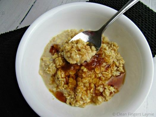 Brown Sugar Maple Oatmeal in White Bowl