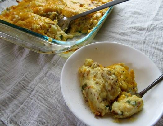 Cheesy Potato Casserole in Pyrex Pan