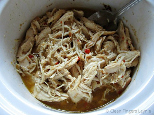 Cafe Rio Shredded Chicken Copycat in Slow Cooker