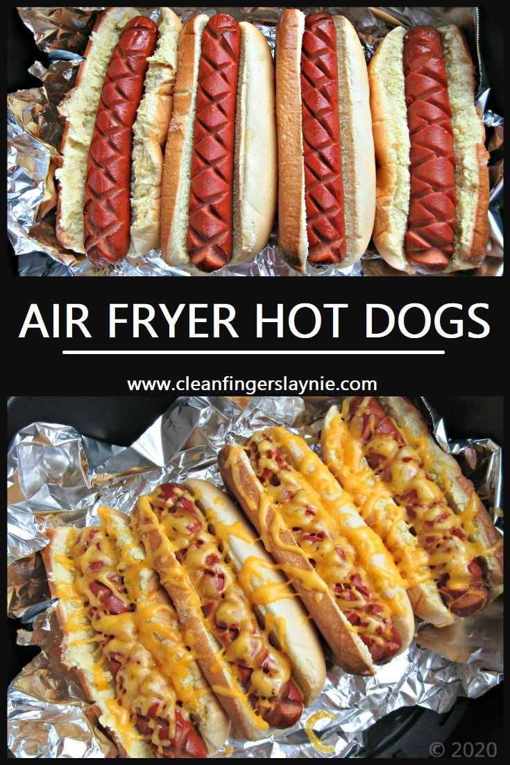 Air Fryer Hot Dogs -- Clean Fingers Laynie