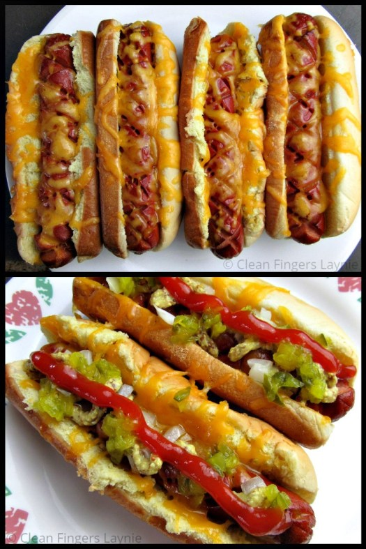 Air Fryer Hot Dogs With Toppings