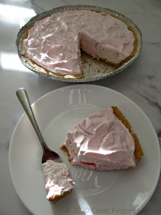 Whipped Topping and Yogurt Pie with Slice