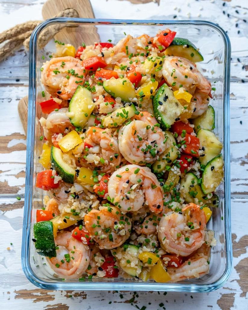 Shrimp cauliflower rice meal prep recipe