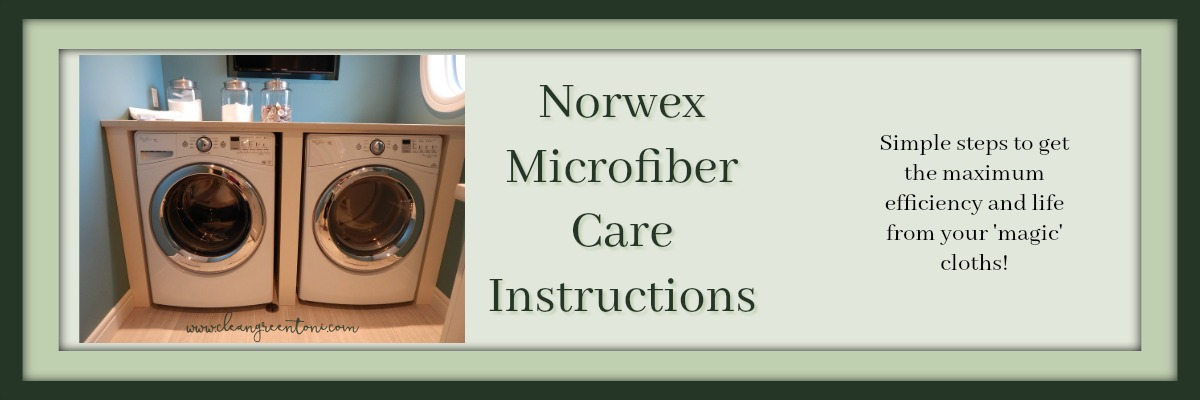 Norwex Microfiber Care Instructions