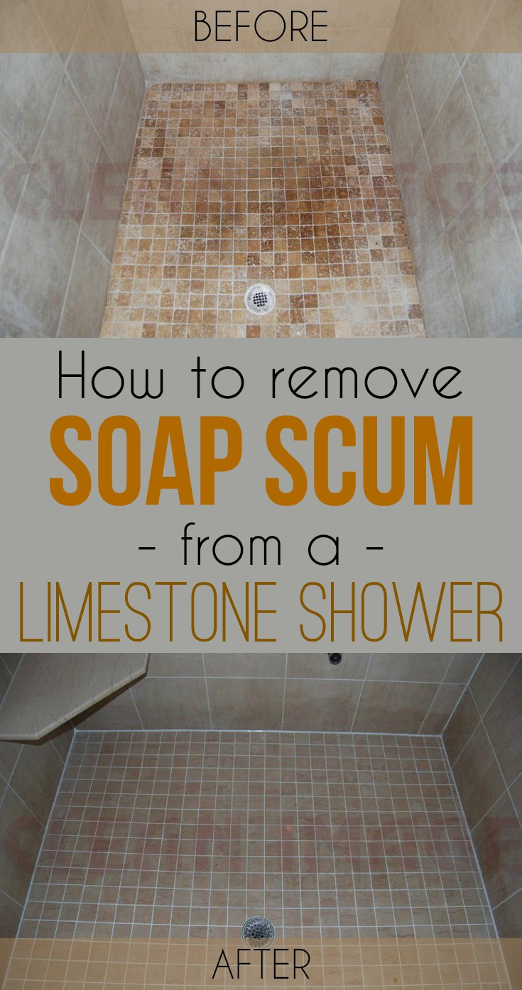 how to remove soap scum from a