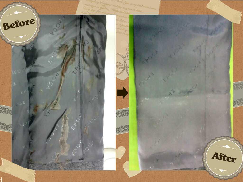 レディース EPOCA エポカ の コート についた 血液 のしみ by 下町、東京都江東区亀戸の会員制クリーニングベレーナ
