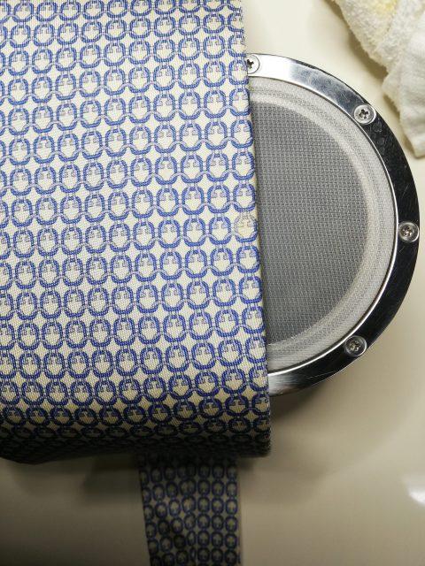 ネクタイ 柄の色抜け 色修正 地直し by 下町、東京都江東区亀戸の会員制クリーニングベレーナ
