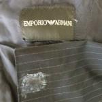 アルマーニのジャケット瞬間接着剤のシミ抜き