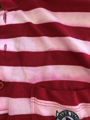 イタリア製ポロシャツ色移り