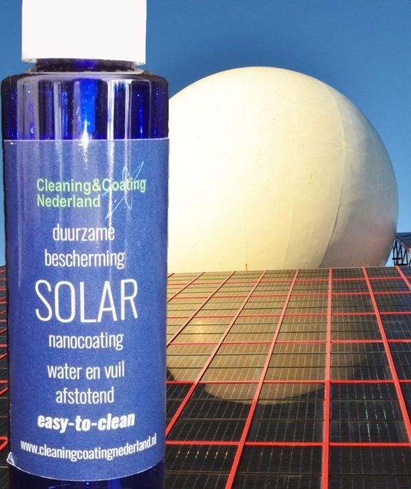 nanocoating solar met zonnepanelen kunstwerk