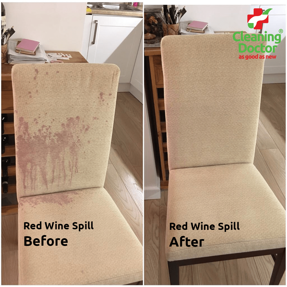 Red Wine Spill Before + After