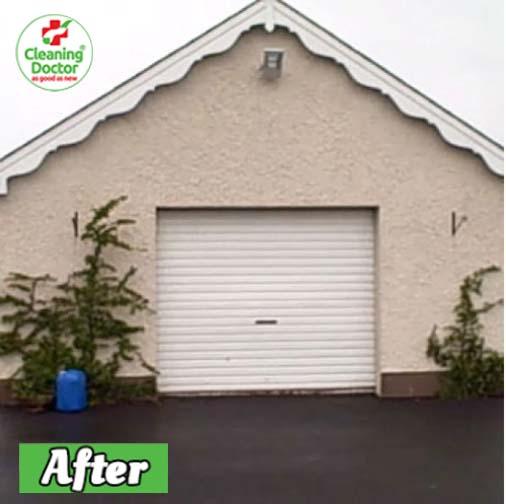 garage after red algae removal