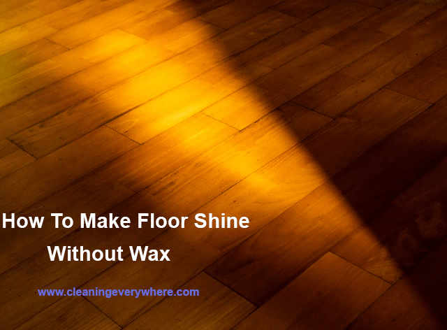 how to make tile floor shine without