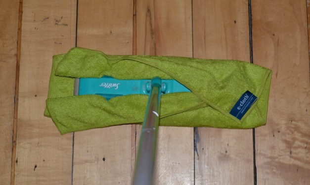 Waddya know? I can fit my e-cloths onto my Swiffer Sweeper!