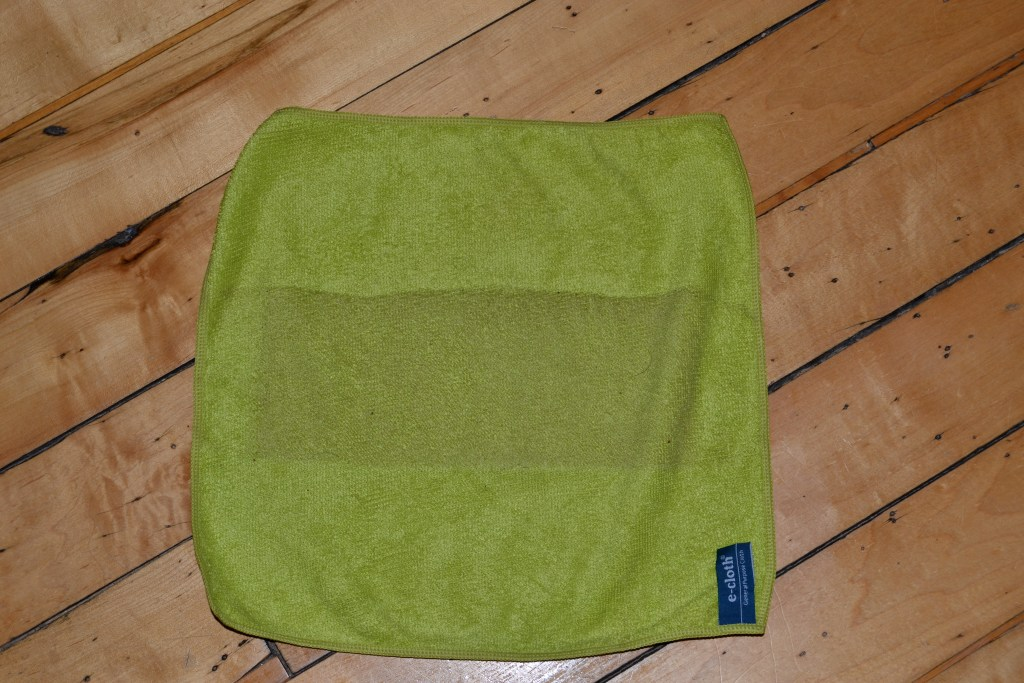 ecloth General Purpose Microfiber cloth after cleaning floors