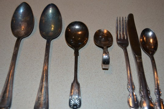 tarnished silverware cleaned easily with Universal Stone