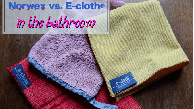 Kate's Bathroom Roundup Review: Norwex Bathroom Scrub Mitt