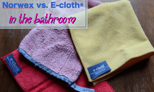 Kate's Bathroom Roundup Review: Norwex Bathroom Scrub Mitt vs. e-cloth Cleaning Pad vs. e-cloth Bathroom Cloth