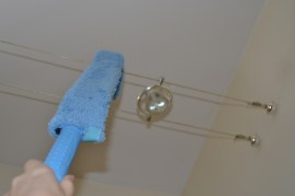 ecloth dusting wand cleans tricky wire light fixtures