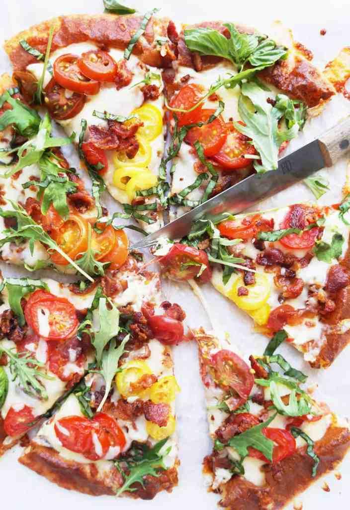 Clean Keto BLT Pizza