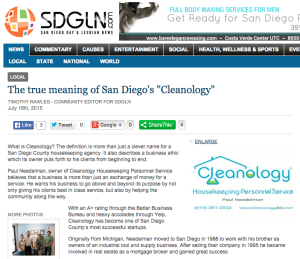 CLEANOLOGY® Profiled by SDGLN.com