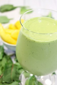 Tropical Green Smoothie in glass