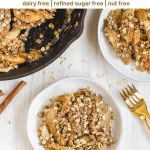 Pinterest pin for gluten free apple crisp