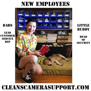 new employees from cleans camera support