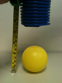 The In-Series vacuum system cannot lift the ball from the same height