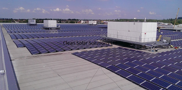 3MW Rooftop Solar Array Cleaned On BMW Mini Plant in UK