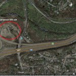 site of proposed SHA salt barn showing proximity to Rock Creek_Google Map accessed 3 31 2016