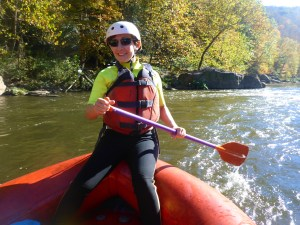 Eliza Cava whitewater rafting