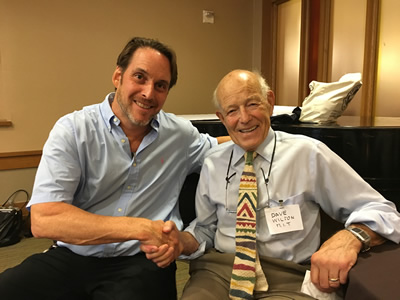 Prof. David Gordon Wilson, MIT, father of the carbon tax in 1973, with Rod Richardson in New York.