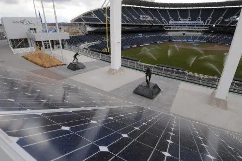 Solar panels at Kauffman Stadium