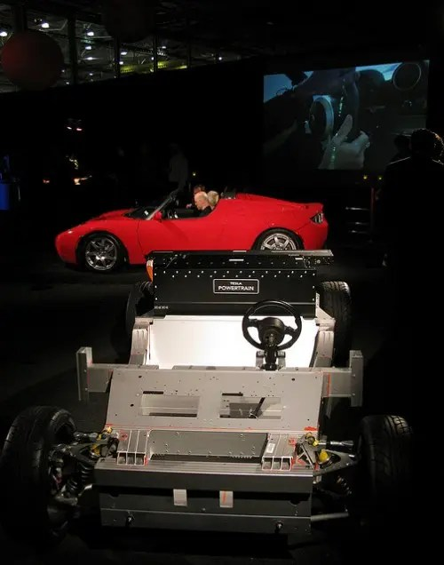 Tesla Roadster - Deskinned Image Credit: Jurvetson on Flickr