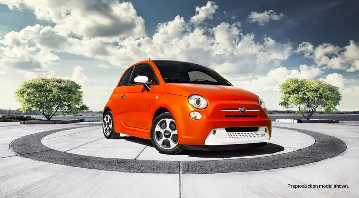 Fiat 500e Electric Vehicle. Image by Fiat