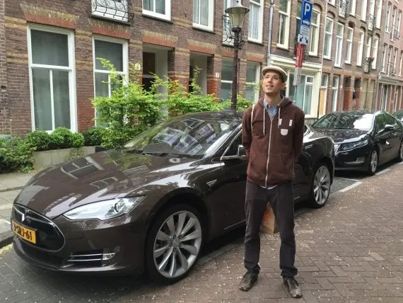 Tesla Model S Brown Amsterdam